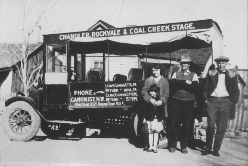 Chandler, Rockvale & Coal Creek Stage ca. 1930