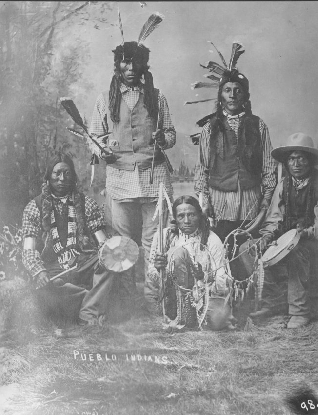 Photo of Pueblo Indians (likely on a visit to Cañon City), ca. 1880; Copyright Royal Gorge Regional Museum & History Center