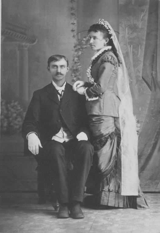 B.G. and Ida Woodford, married Sept. 11, 1881 in Wetmore; Copyright Royal Gorge Regional Museum & History Center