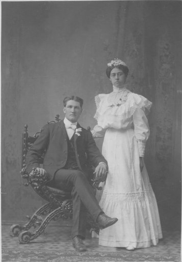 Magie (Neil) and George McIntire, married Aug. 1, 1900; Copyright Royal Gorge Regional Museum & History Center