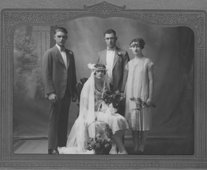 Anthony and May Javernick (accompanied by Joe Javernick and Stephanie Boben), married 1926; Copyright Royal Gorge Regional Museum & History Center