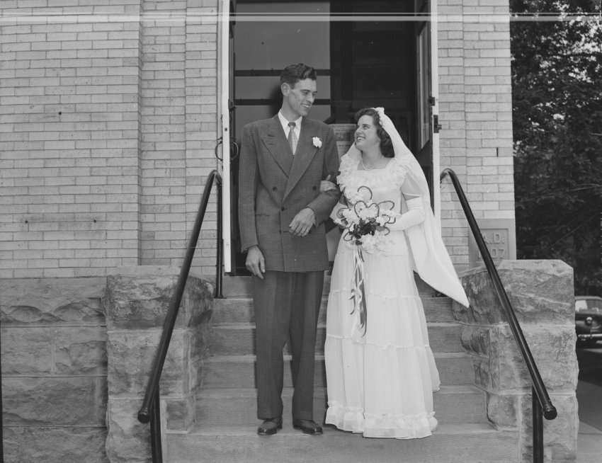 Stark wedding (first names unknown), 1949, location unknown; Copyright Royal Gorge Regional Museum & History Center