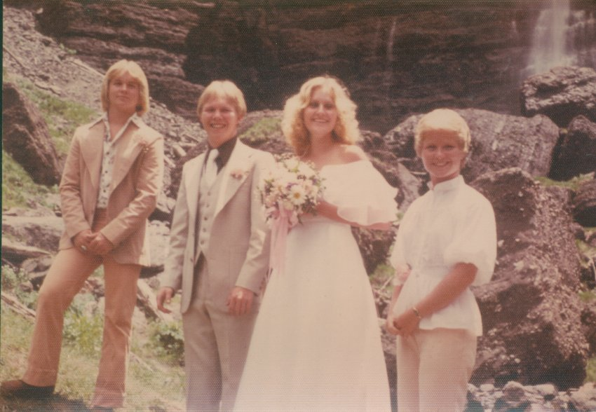 Unidentified wedding party, ca. 1975; Copyright Royal Gorge Regional Museum & History Center