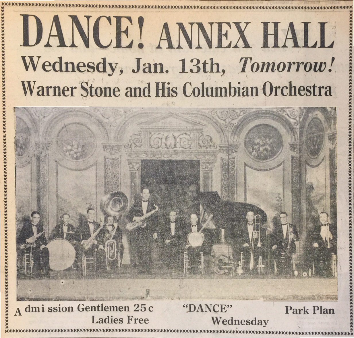 Ad in Cañon City Daily Record, January 12, 1926