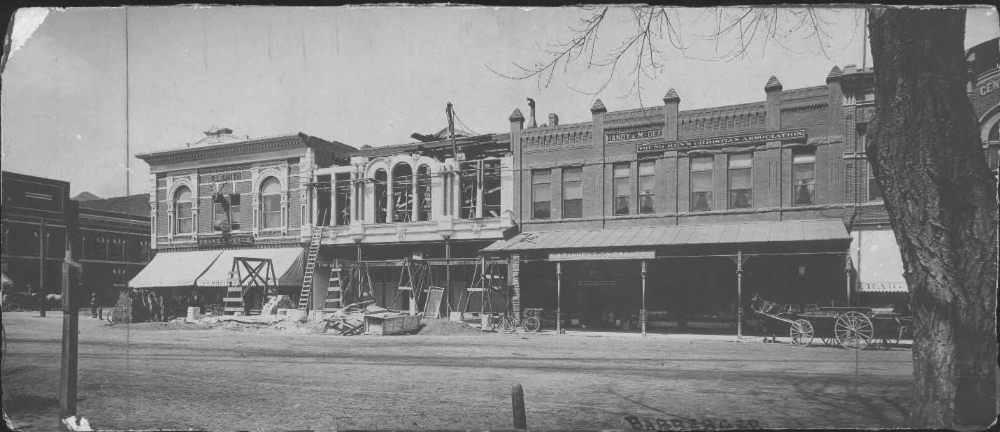500 Block of Main Street, Annex Building (505-507) under construction, ca. 1903; Copyright Royal Gorge Regional Museum & History Center