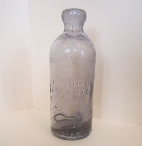 """F. Stockder Canon City"" bottle, ca. 1900; Royal Gorge Regional Museum & History Center collection"