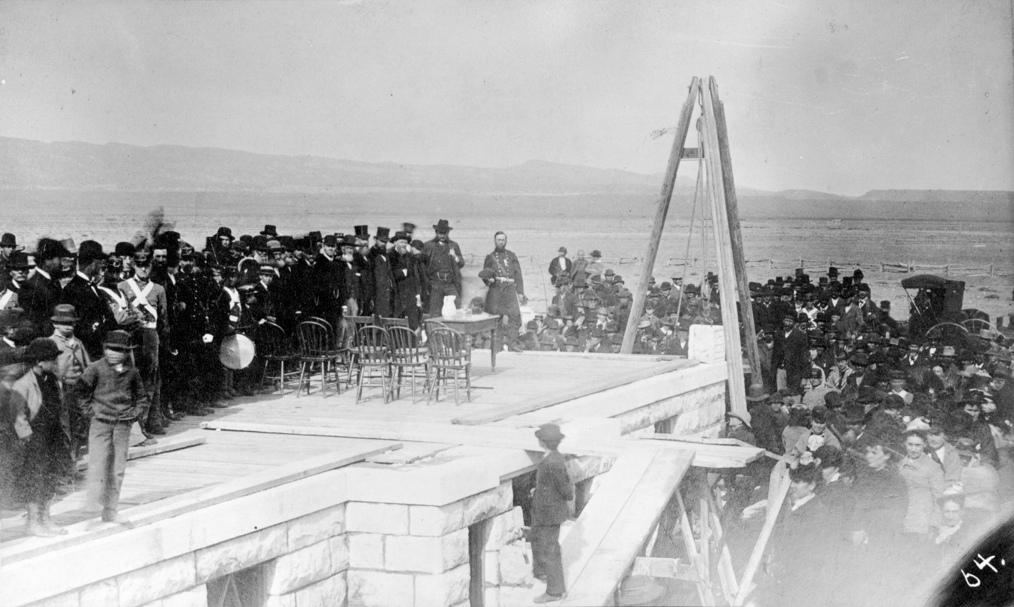 The laying of the corner stone at the Colorado Collegiate Military Institute, 1880. Object ID: 1986.043.064; Copyright Royal Gorge Regional Museum & History Center
