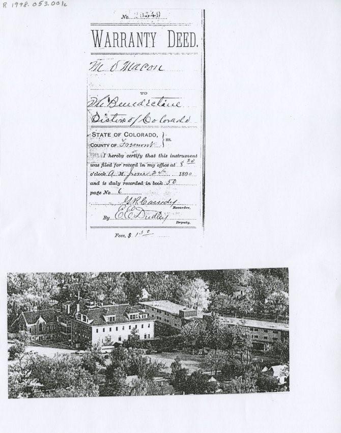 Warranty deed, June 24, 1890. Object ID: R1998.053.001c